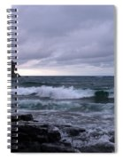 Rough Surf At Split Rock Spiral Notebook
