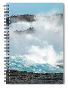Rough Waves Offshore Whale Point Spiral Notebook