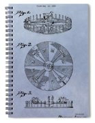 Roulette Wheel Patent Spiral Notebook