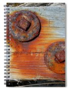 Round And Rusted Spiral Notebook