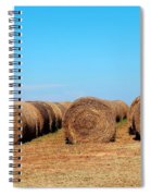 Round Bales Of Hay Spiral Notebook