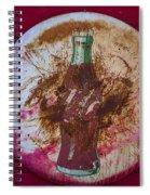 Round Coke Sign Spiral Notebook