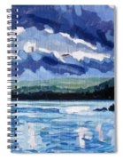 Round Lake Squall Spiral Notebook