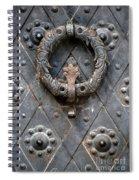 Round Metal Doorknob Spiral Notebook