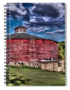 Round Red Barn Spiral Notebook