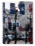 Round The Piccadilly Spiral Notebook