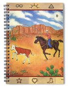 Round Up And Cattle Brands Spiral Notebook