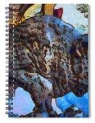Round Up Market Buffalo Spiral Notebook