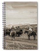 Rounding Up Cattle In Cornville Arizona Sepia Spiral Notebook