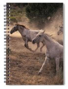 Rounding Up Horses On The Ranch Spiral Notebook