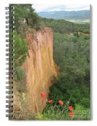 Roussillon Red Rock Landscape Spiral Notebook