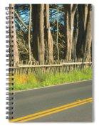 Route 1, Mendocino, California Spiral Notebook