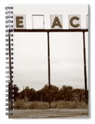 Route 66 - Abandoned Texaco Station Spiral Notebook