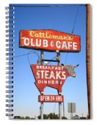 Route 66 - Cattleman's Club And Cafe Spiral Notebook