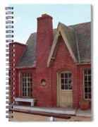 Route 66 - Cottage Style Gas Station Spiral Notebook