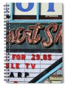 Route 66 - Desert Skies Motel Spiral Notebook