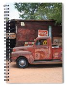 Route 66 Garage And Pickup Spiral Notebook