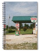 Route 66 Gas Station With Sponge Painting Effect Spiral Notebook