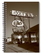 Route 66 - Glancy Motel Spiral Notebook