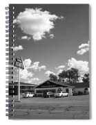 Route 66 - Midpoint Cafe Adrian Texas Spiral Notebook