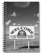 Route 66 - Midpoint Sign Spiral Notebook