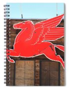 Route 66 - Mobil Pegasus Spiral Notebook