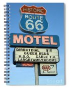Route 66 Motel Sign 3 Spiral Notebook