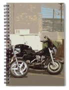 Route 66 Motorcycles With A Dry Brush Effect Spiral Notebook