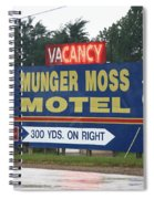 Route 66 - Munger Moss Motel Sign Spiral Notebook