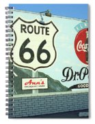 Route 66 - Mural With Shield Spiral Notebook