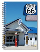 Route 66 Odell Il Gas Station Signage 01 Spiral Notebook
