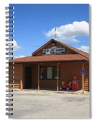Route 66 - Old Log Cabin 3 Spiral Notebook