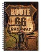 Route 66 Raceway Spiral Notebook