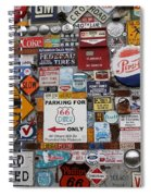 Route 66 Signs Spiral Notebook