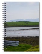 Row Boat At Low Tide - County Mayo Ireland Spiral Notebook