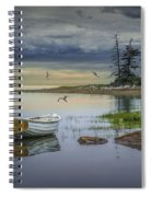Row Boat By Mount Desert Island Spiral Notebook