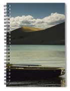 Row Boat On Silver Lake With Dunes Spiral Notebook