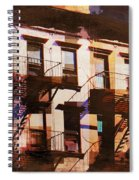 Row Houses - Old Buildings And Architecture Of New York City Spiral Notebook