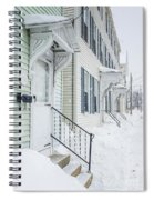 Row Houses On A Snowy Day Spiral Notebook