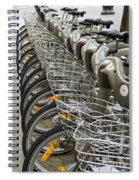 Row Of Bicycles Spiral Notebook