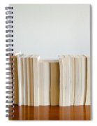 Row Of Books Spiral Notebook