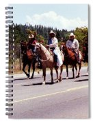 Row Of Horses Spiral Notebook