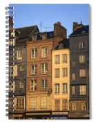 Row Of Houses. Honfleur Harbour. Calvados. Normandy. France. Europe Spiral Notebook