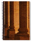 Row Of Large Columns Spiral Notebook