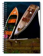 Row Of Rowboats  Spiral Notebook
