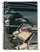 Row Of Vintage Car Fins Spiral Notebook
