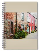 Row With Flowers Spiral Notebook