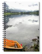 Row Your Boat To The Briksdalsbreen Glacier Spiral Notebook