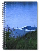Rowboat In Grass Spiral Notebook