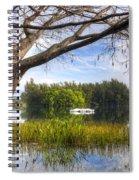 Rowboats At The Lake Spiral Notebook